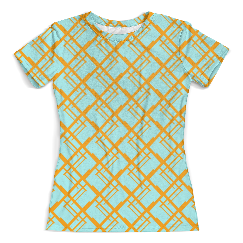 Футболка с полной запечаткой (женская) Printio Оранжевая клетка футболка женская пиар 50