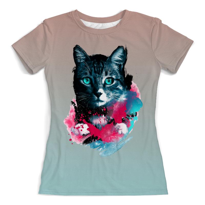 Printio Кошечка футболка с полной запечаткой женская printio чёрная кошечка