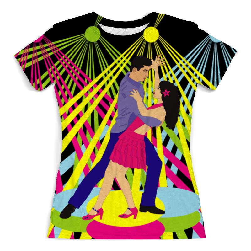 Футболка с полной запечаткой (женская) Printio Сальса в клубе футболка с полной запечаткой женская printio сальса в клубе