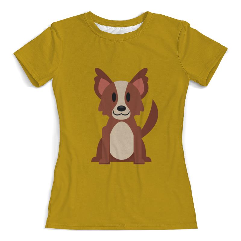 Футболка с полной запечаткой (женская) Printio Собачка футболка с полной запечаткой женская printio хипповая собачка 1