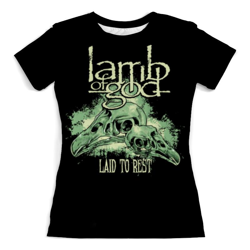 Футболка с полной запечаткой (женская) Printio Lamb of god lamb of god lamb of god sacrament