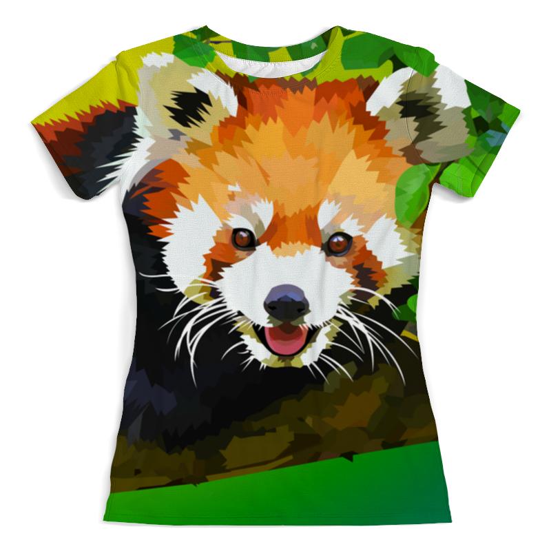 Футболка с полной запечаткой (женская) Printio Красная панда футболка 501 красная