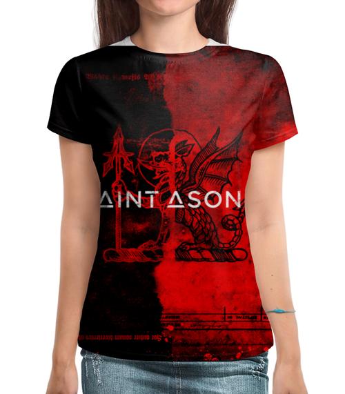"""Футболка с полной запечаткой """"Saint Asonia """" - rock, saint, saint asonia, adam gontier, asonia"""