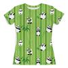 """Футболка с полной запечаткой (женская) """"Панды"""" - животные, панда, растения, панды, бамбук"""