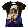"""Футболка с полной запечаткой (женская) """"Дева Мария (Джованни Батиста Сальви)"""" - картина, сальви"""