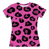 """Футболка с полной запечаткой (женская) """"Розовый леопард"""" - арт, розовый, гламур, леопард"""