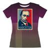 """Футболка с полной запечаткой (женская) """"«Путин - навсегда!», в стиле Obey"""" - путин, obey, putin, навсегда, osecp"""