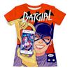 """Футболка с полной запечаткой (женская) """"Batgirl"""" - юмор, женщине, супергерой, киноманам, любителям комиксов"""