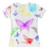 """Футболка с полной запечаткой (женская) """"Butterflies"""" - бабочки, лето, весна"""