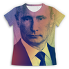"""Футболка с полной запечаткой (женская) """"Путин-Арт"""" - путин, президент, putin, кремль"""