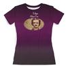 """Футболка с полной запечаткой (женская) """"Эдгар По (Edgar Poe)"""" - ретро, ворон, писатель, edgar allan poe, эдгар аллан по"""