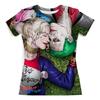 """Футболка с полной запечаткой (женская) """"The Joker&Harley Quinn Design"""" - 8 марта, джокер, харли квинн, отряд самоубийц, любителям комиксов"""