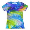 """Футболка с полной запечаткой (женская) """"Abstract Rainbow"""" - радуга, цвета, краски, абстракция"""