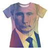 """Футболка с полной запечаткой (женская) """"Путин-Арт"""" - putin, кремль, президент, путин"""