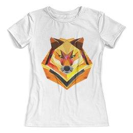 """Футболка с полной запечаткой (женская) """"Fox/ Лиса"""" - арт, fox, лиса"""