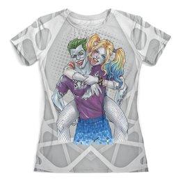 """Футболка с полной запечаткой (женская) """"Harley Quinn & The Joker"""" - джокер, харли квинн, harley quinn, dc комиксы, суперзлодейка"""