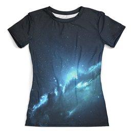 """Футболка с полной запечаткой (женская) """"The Spaceway"""" - космос, наука, прогресс, денис гесс, the spaceway"""