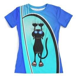 """Футболка с полной запечаткой (женская) """"КОШЕЧКА"""" - кошка, юмор, любимая, ласковая, с когтями"""