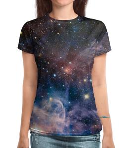 "Футболка с полной запечаткой ""space full print"" - space, звезды, stars, космос, галактика"