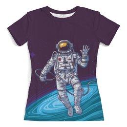 """Футболка с полной запечаткой (женская) """"The Spaceway Travel"""" - звезды, космос, футболка космос, одежда космос"""