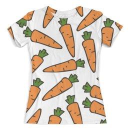 """Футболка с полной запечаткой (женская) """"Морковки"""" - лето, веган, здоровье, морковь, овощи"""