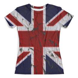 """Футболка с полной запечаткой (женская) """"Англия"""" - страны, англия, флаг, великобритания, народы"""