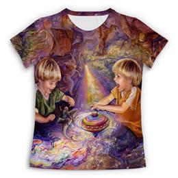 """Футболка с полной запечаткой (Женская) """"Волшебное детство"""" - дети, детство, волшебство, чудеса"""