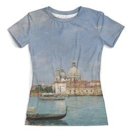 "Футболка с полной запечаткой (женская) ""Венеция: Санта-Мария делла Салюте"" - картина, буден"