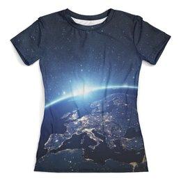 """Футболка с полной запечаткой (женская) """"The Spaceway"""" - футболка космос, одежда космос, космос, вселенная"""
