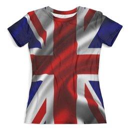 """Футболка с полной запечаткой (женская) """"Британский Флаг"""" - англия, британия, uk, great britain"""