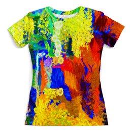 """Футболка с полной запечаткой (женская) """"Живопись"""" - краски, абстракция, color, живопись, paint"""