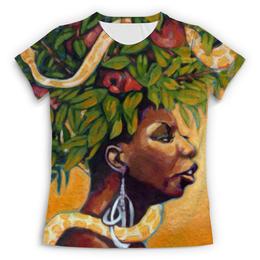 """Футболка с полной запечаткой (Женская) """"Nina Simone"""" - музыка, любовь, джаз, nina simone, нина симон"""