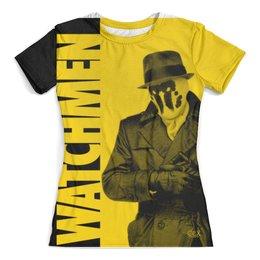 """Футболка с полной запечаткой (женская) """"Watchmen"""" - комиксы, хранители, dc comics, watchmen"""