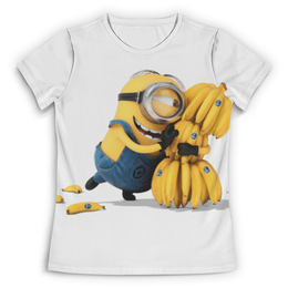 """Футболка с полной запечаткой (Женская) """"Minions"""" - bananas, миньоны, minion"""