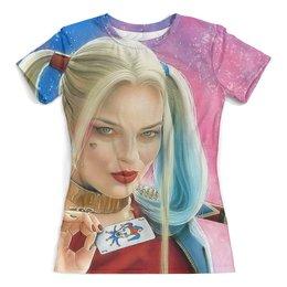 """Футболка с полной запечаткой (женская) """"Harley Quinn"""" - харли квинн, суперзлдоейка, dc комиксы, отряд самоубийц"""