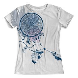 """Футболка с полной запечаткой (Женская) """"Ловец снов"""" - арт, рисунок, ловец снов, декор, паутина"""