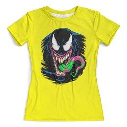 """Футболка с полной запечаткой (женская) """"Веном"""" - venom, spider man, человек паук, веном"""