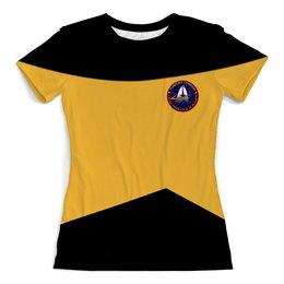 """Футболка с полной запечаткой (женская) """"Star Trek"""" - арт, star trek"""