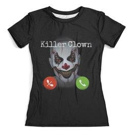 """Футболка с полной запечаткой (женская) """"Клоун убийца"""" - страх, фильм, ужасы, клоун, убийца"""