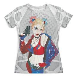 """Футболка с полной запечаткой (женская) """"Harley Quinn Design"""" - харли квинн, harley quinn, dc комиксы, суперзлодейка, отряд самоубийц"""