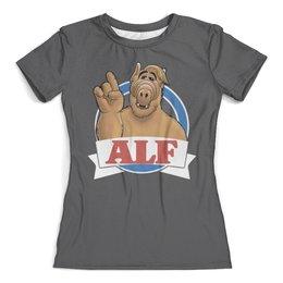 """Футболка с полной запечаткой (женская) """"ALF   (1)"""" - юмор, альф"""
