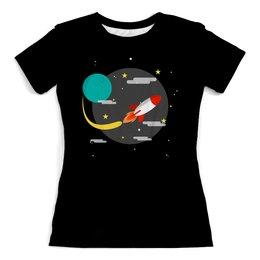 """Футболка с полной запечаткой (женская) """"The Spaceway"""" - звезды, космос, наука, астрономия, the spaceway"""
