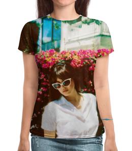 """Футболка с полной запечаткой """"Lana Del Rey"""" - цветы, природа, lana del rey, лана дель рей"""