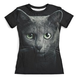 """Футболка с полной запечаткой (женская) """"Котик. Кошка. Кот."""" - арт, стиль, мода, девушкам, милота"""