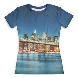 """Футболка с полной запечаткой (женская) """"San Francisco"""" - рисунок, города, дизайн, сан-франциско"""