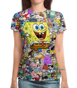"""Футболка с полной запечаткой """"Спанч Боб"""" - спанч боб, spongebob, spongebob squarepants, squarepants"""