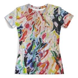 """Футболка с полной запечаткой (женская) """"Мы(женская)"""" - картина, абстракция, яркие цвета, яркие краски"""