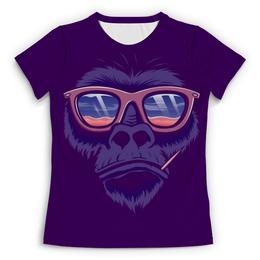 """Футболка с полной запечаткой (Женская) """"СИМВОЛ ГОДА 2016!!!"""" - прикол, круто, очки, обезьяна, символ"""