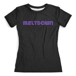 """Футболка с полной запечаткой (женская) """"Meltdown Винил Маша"""" - metal, heavy, meltdown, moscow, винил"""