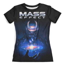 """Футболка с полной запечаткой (женская) """"Mass Effect"""" - компьютерные игры, mass effect, n7, масс эффект, геймерские"""